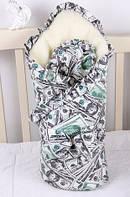 """Зимний конверт для новорожденных """"Мария"""" (доллары)"""