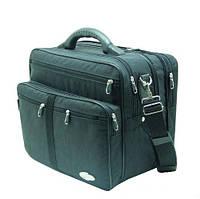 Мужская сумка Wallaby 25275 полу-каркас с увеличением объема, чёрная