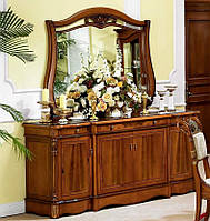 Комод - буфет с зеркалом Orchidea / Орхидея натуральное дерево AMD