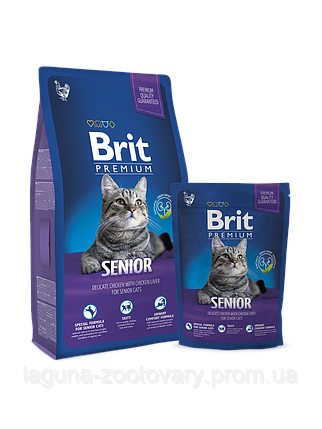 Новый Брит Премиум Кэт Сеньор 1,5кг - сухой корм для  пожилых кошек, фото 2
