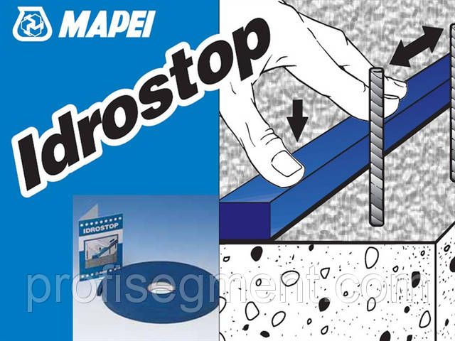 Гідрофільний еластичний профіль для герметезации робочих з'єднань Mapei Idrostop 20x10/10 м. Харків