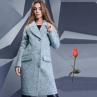 Демисезонное пальто из валенной шерсти GT  778655  Мята
