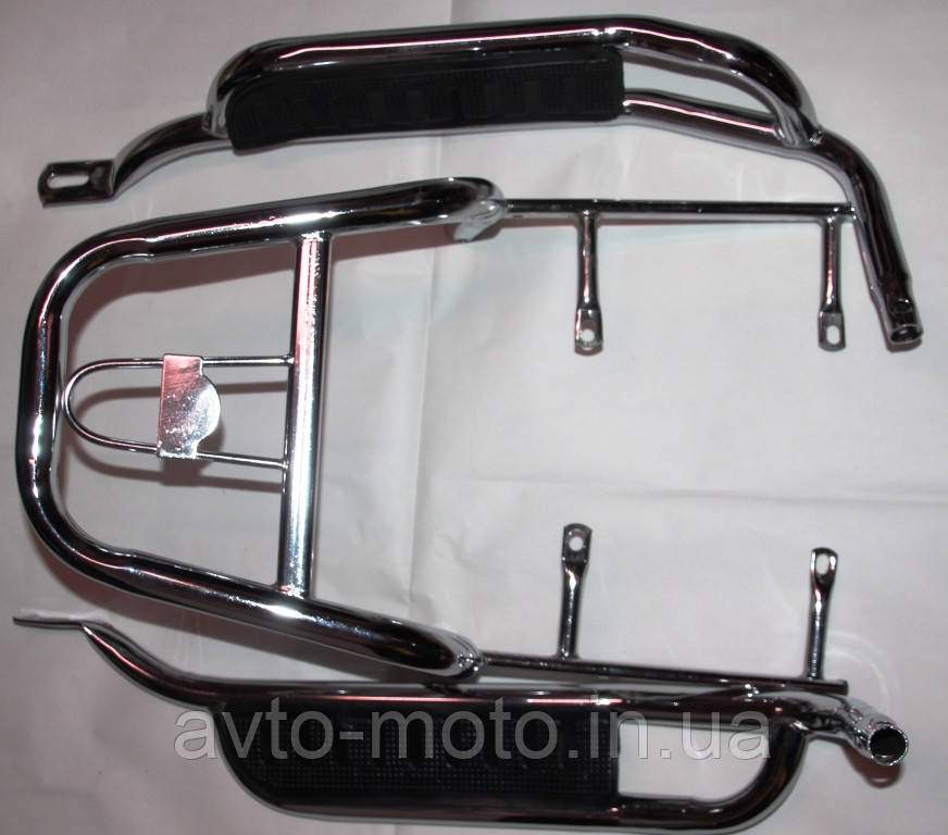 Багажник мопед Актив с подножками пассажирскими