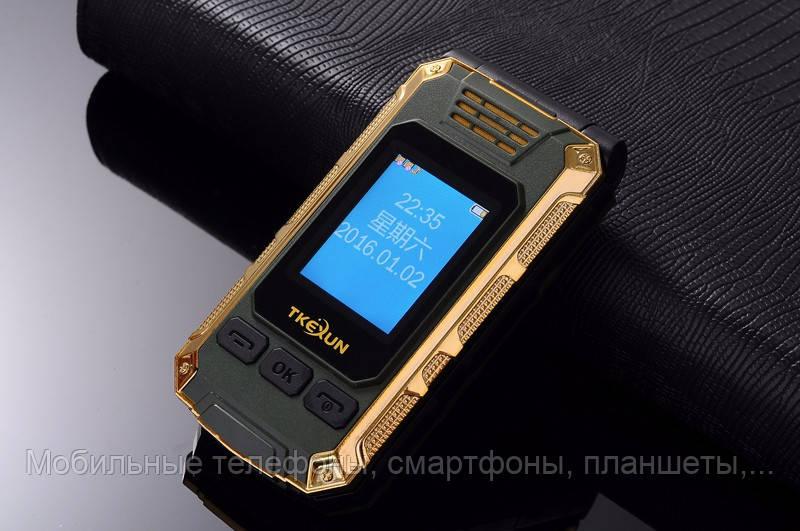 Телефон-раскладушка Tkexun G5 на 2 Сим с внешним дисплеем корпус металл