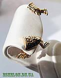 Серебряные сережки гвоздики Нефертити F 200160, фото 3