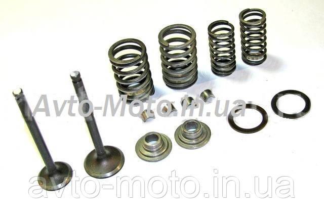 Ремкомплект головки мопед Дельта 70 ( клапана , пружины , тарелки , сухарики )