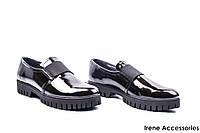 Туфли женские лаковые Mida (комфортные,цвет золотисто-черный, по 41р)