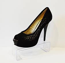 Туфли женские замшевые Big Rope 35 размер