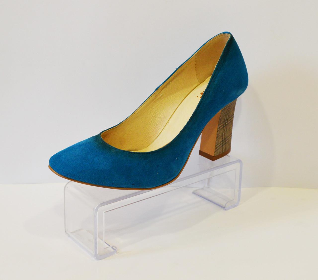 Туфли женские синие A.J.F.