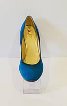 Туфли женские синие A.J.F., фото 2