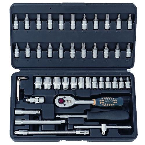 """1/4"""" Набір інструменту 12-гранний 46 предметів (4-14 мм)"""
