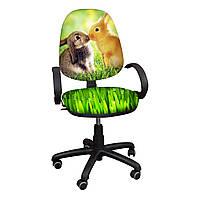 """Детское компьютерное кресло Поло """"Кролики"""""""
