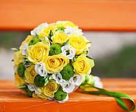 Свадебный букет с желтыми розами