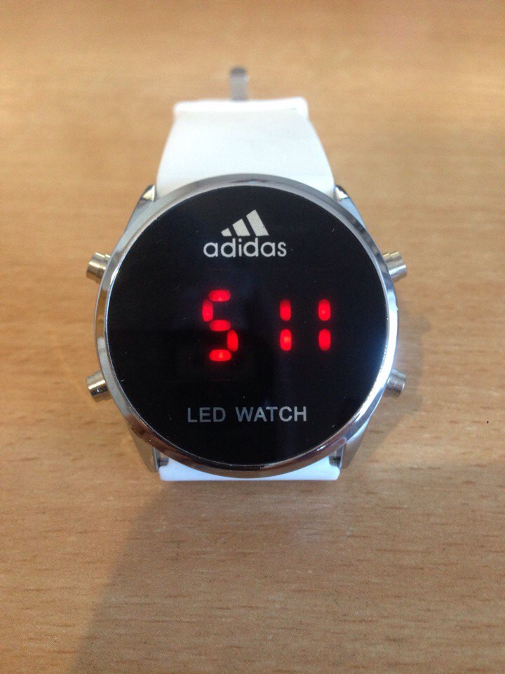 Спортивные часы LED WATCH, Лед белые