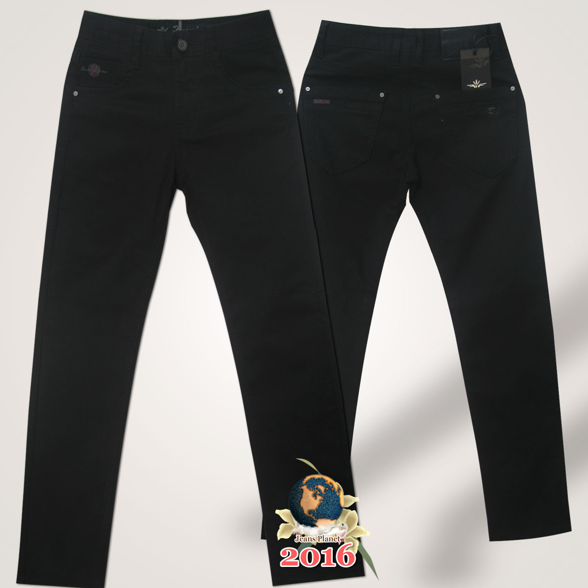 c0157120377 Джинсы подростковые Fangsida чёрного цвета 23 размер.