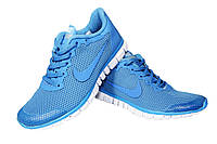Женские кроссовки Nike Free Run 3.0, сетка, голубые, Р. 36