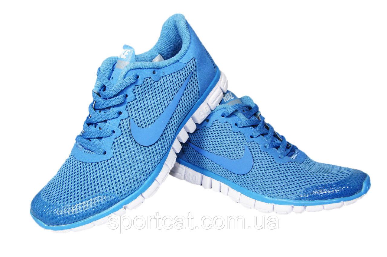 db482977 Женские кроссовки Nike Free Run 3.0, сетка, голубые, Р. 36 от ...