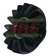 Шестерня коническая шлицевая транспортера выгрузки зерна комбайна Claas на 16 зубьев 639590