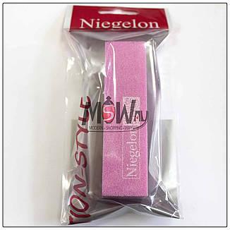 Niegelon Бафик 06-0574 шлифовочный минеральный для ногтей розовый 150х180, фото 2