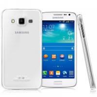 Силиконовый чехол Ultra-thin на Samsung Galaxy А7 SM-A700H Clean Grid Transparent