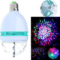 Диско лампа LASER LY 399 E27, портативная светодиодная RGB лампа, вращающаяся светодиодная диско лампа