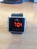 Спортивные часы Adidas LED WATCH, Адидас Лед черные