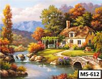 Картина на холсте по номерам MS 612 40x50см