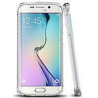 Силиконовый чехол Ultra-thin на Samsung Galaxy S6 Edge SM-G925 Clean Grid Transparent