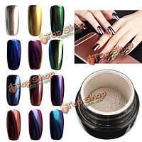 10 цветов на выбор волшебное зеркало хром эффект металлический порошок добавка пигмент ногтей