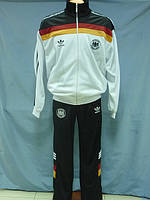 Костюм спортивный  Adidas ГЕРМАНИЯ мужской эластик  белый с черным