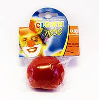 Нос клоуна красный