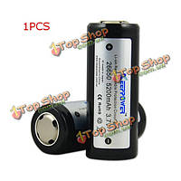 5200мАh 3.7V защищен литий-ионный аккумулятор KeepPower ICR26650 1шт