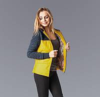 Молодежная женская куртка желтого цвета