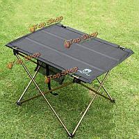 Открытый складной пикник чай стол стол барбекю барбекю ворота-ноги стол из алюминиевого сплава кемпинг туризм