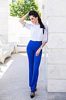 Стильные офисные женские брюки клеш с завышенной талией тиар