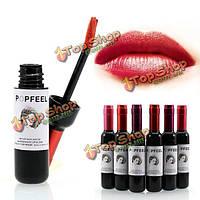 Popfeel бутылка вина жидкий штейн помада перо продолжительно водонепроницаемый размазать макияж блеск для губ