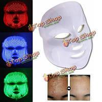 Фотон LED омоложение кожи лица терапия маска для лица 3 цвета света удаление морщин против старения