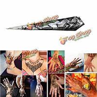 1шт естественный травяной черный паста хны конус Временные татуировки боди-арт инструмент
