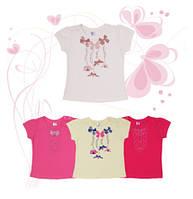 Футболки для девочек ТМ Фламинго, кулир (артикул 566-110)