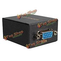 60м VGA для RJ45 Ethernet сигнал расширителя cat5e/6 передатчика адаптера приемника