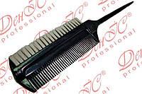 """Расчёска парикмахерская  для начёса """"ДенІС professional"""" с белой щетиной"""