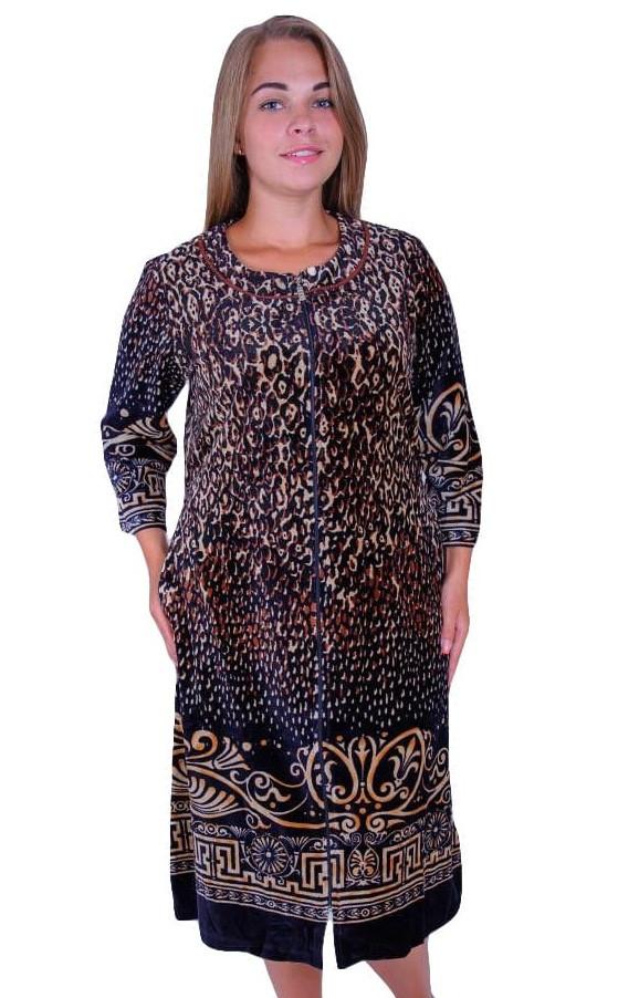 Женский велюровый халат-тигровый купить в Украине