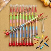 10шт цветные мелки карандаш комплект 10 цветов воска нетоксичен малыша наполнителя