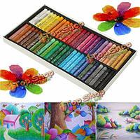 50 цветов Crayon нетоксичные пастели масла чертежные ручки художников черчение краски