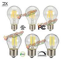 G45 A60 LED накаливания свет стеклянный дом лампа лампы 110В 220В 6w 8w Edison люстра E27 гх затемняемый