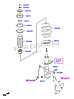Стойка амортизационная газовая, передняя левая на Hyundai Accent.Код: 338107