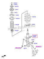 Стойка амортизационная газовая, передняя левая на Hyundai Accent.Код:22-238436