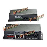 4CH * 4a 4-х канальный RGBW DMX 512 декодер DC12-24V LED контроллер для LED полосы света