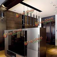 Современный длинный цилиндрический алюминиевый сплав LED подвесной светильник ресторан лобби-бар кафе люстра