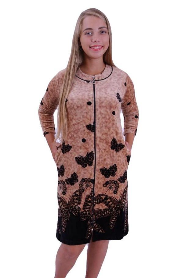 Женский велюровый халат-бабочки купить в Украине